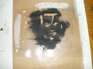 plastic furniture cover stencil