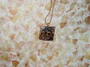 necklace paper clay