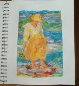 walking the shoreline at the beach by rosebudinnh