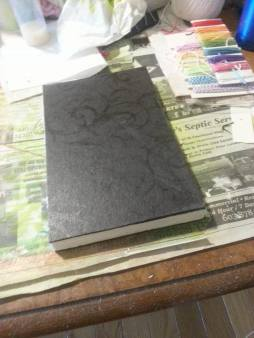 7. glue down cover's to front and back pages.