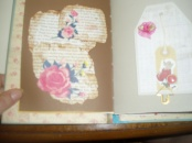 started this ,homemade cut by hand rose added to inked book pages.. more to do.